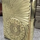 LX  carving pure copper lighters Pure copper armor DIY deep spiral  Bagua map BC2818