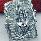AGYC 56*45*2mm S925 sterling silver hand carved retro relief silver Shaped Skull hand Punk  men