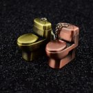 Creative lighters mini funny pure copper metal toilet flush toilet personality grinding wheel a
