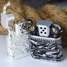 3 color ZORR  Vintage retro kerosene 3D Relief dragon Lighter   BC3044