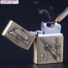 LOL League Vintage Bronze Weapon Carving Cigarette Lighter Charging ARC Windproof Lighters elec