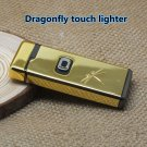 Dragonfly pattern electronic touch windproof lighter BC3187