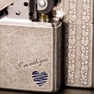 zpo  brand Ancient silver  Lighter with logo box BC3252