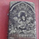 Metal windproof lighter kerosene white tara guanyin  BC3377