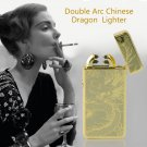 Dragon Rechargeable  Electric Double Dual Arc Flameless Charging Windproof Lighter Good Fashion