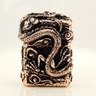 Armor dragon. Rose gold black high pure copper kerosene lighter craft gift. Metal lighters BC3550