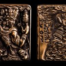 ZPObrandliner  lighter  CJSG  6*4.2*1.9CM Relief Brass carved double-sided carving patron saint