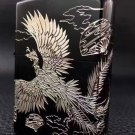 brand  zpo  Genuine silver Phoenix dancing black silver  lighter with two-dimensional code  BC3629