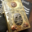 5.8*4cmZPObrand lighter Handmade Good Vibrations Super cool 925 sterling silver mixed copper re