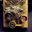 Harley  Steam punk retro lighters tiger  handmade zpo BC3713