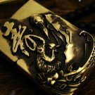 ZWZW 6*4*2.2cm pure Brass carving hand-made Monkey birthday  authentic Z PO lighters liner  ar