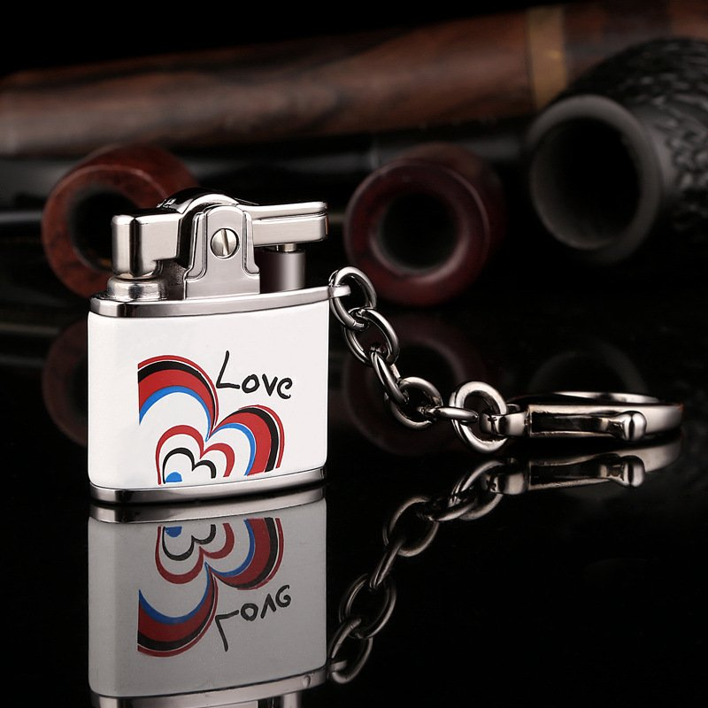 10pcs/lot Fashion Cool Butane gas windproof lighter with pakeage box gadgets for men high quali