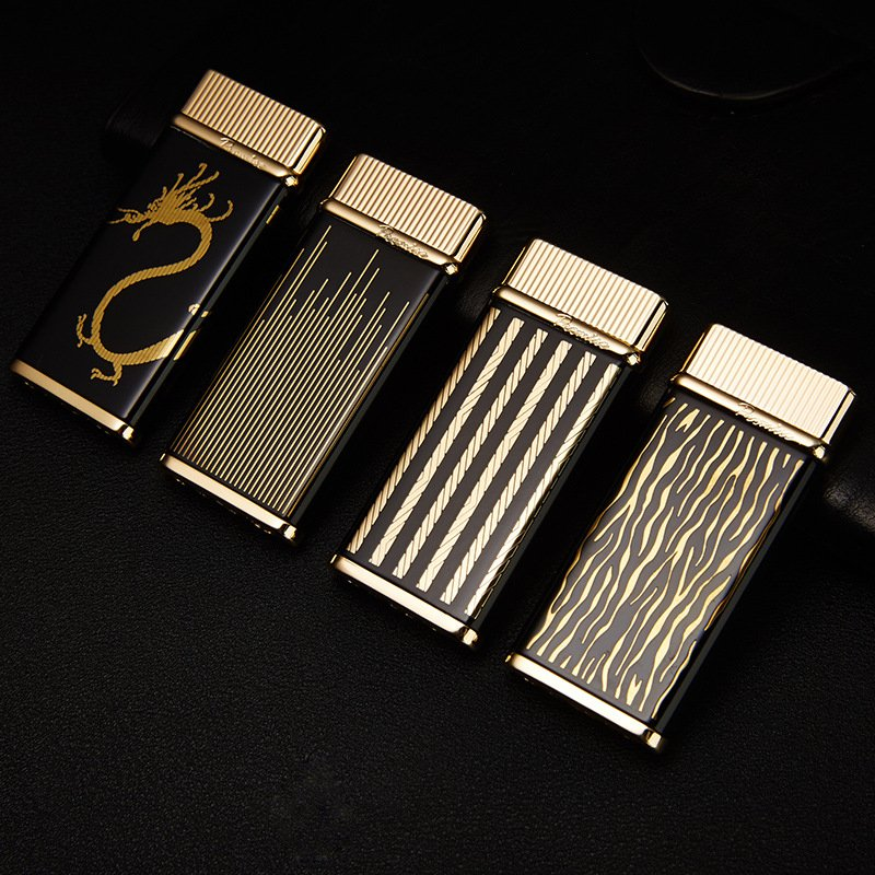 15pcs/lot  Butane gas 4 color select windproof lighter with pakeage box gadgets for men high qu