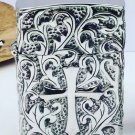 4.4cm*1.6cm*5.5cm cross flower  lighters Hand-carved  carvings 110g S925sterling silver   BC3851
