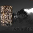 DIY   PureFive Big storm snow mountain pure copper carved new manual windproof lighters  BC3853