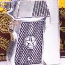 LMT  wholesale  Heavy armor copper kerosene silver color lighters retro wind domineering guns o