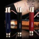 12pcs/lot   Butane lighter isqueiro with pakeage box gadgets for men 3 color select high qualit