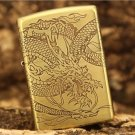 windproof lighter Pure copper etching around the dragon in all directions Martial ZP gift  BC3926