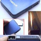 Brushed Aluminum Panel Auto Ejection Cigarette Case W/ Butane Gas Refillable Windproof Jet Torc