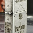 MJL wholesale Ancient silver Five - Face engraving The bar code  lighter brand Genuine  with bo