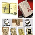 Metal kerosene lighters personalized creative bronze relief lighter BC4065