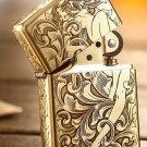 MJL wholesale Five - Face 1941B Tang grass flower fairy  lighter brand Genuine copper gold line