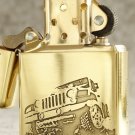 MJL wholesale engraving car logo lighter brand Genuine copper gold liner  with box  BC4087