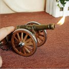 Cabinet ornaments towed howitzer model with inflatable lighter handcrafts decoration gifts ligh