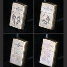 100pcs/lot 4 kinds of Windproof Priest lighter isqueiro christmas gift cigarette cigar kerosene