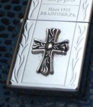 MY wholesale silver  Brand  lighter  cross  BC4177