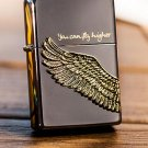 Kerosene lighter Han edition chapter stick Black ice wings fly higher lighter  BC4208