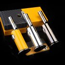 COHIBA Fashion swivel head Windproof Refillable Gas metal torch cigar lighter BC4216