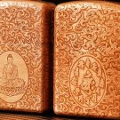 copper Brand lighter brass Shield Carved Buddha  lighter overall Case cover TC4 War Armor 59*4