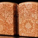 copper Brand lighter brass Shield Carved rose flower lighter overall Case cover TC4 War Armor