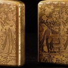 copper Brand lighter brass Shield Carved Ancient Egyptian  lighter overall Case cover TC4 War