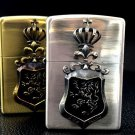 HYB wholesale  Genuine gold silver 2BIM-CRKING crown badge  Lighter  ZPO BC4328