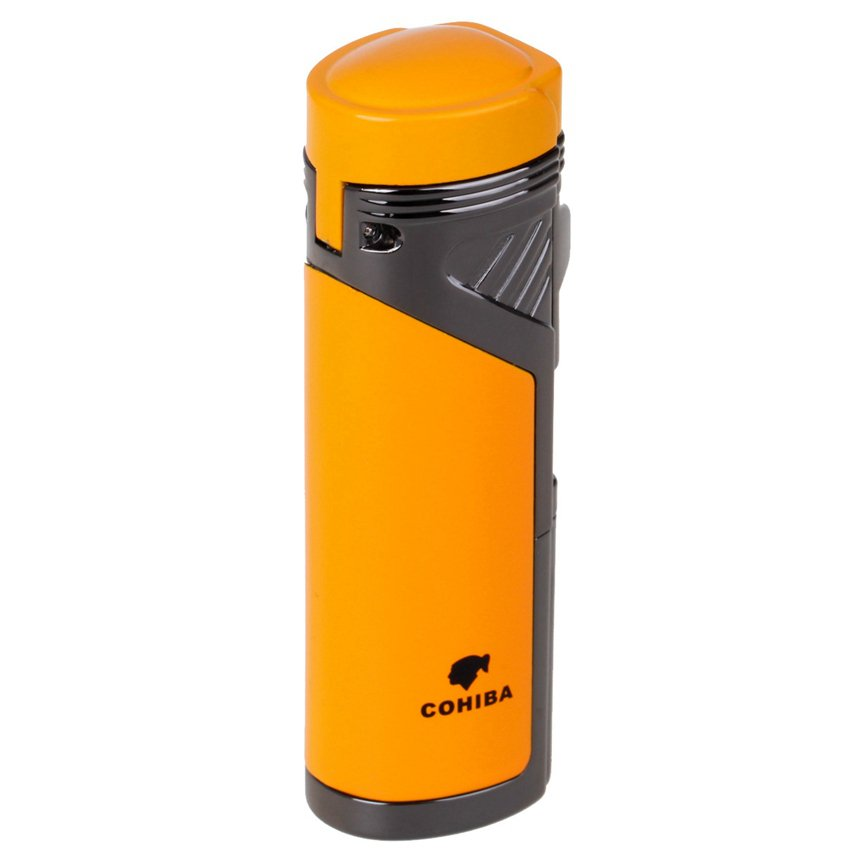 Hot Sale COHIBA Fashion High-Grade Metal Material Windproof Jet Flame Refillable Red Flame Inf