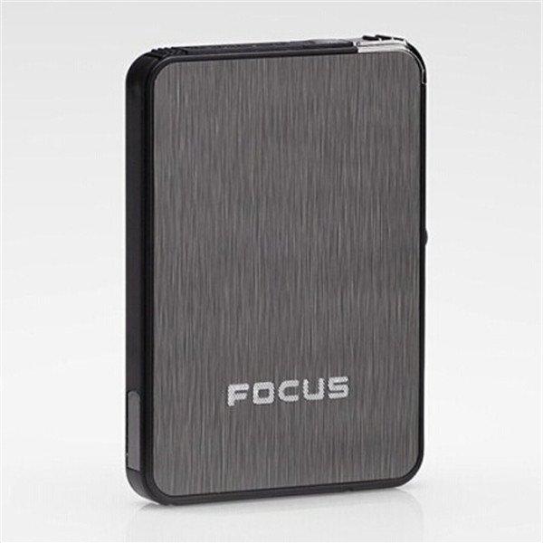 Focus Auto Cigarette Case Box Refillable Butane Fuel Lighter Cigar Tobacco Case BC4431