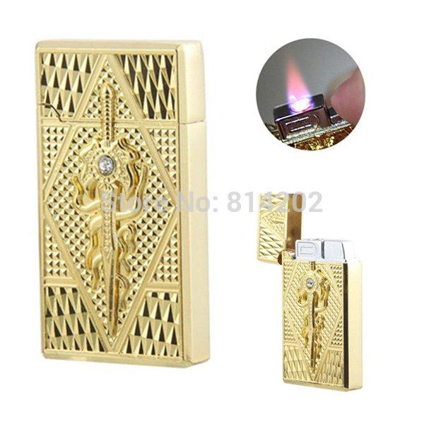 Windproof Metal Gas Cigarette Lighter Refill Butane Cigar Jet Torch Fuel Lighter BC4443