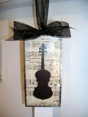 Framed Instrument- Handcrafted Art- Violin