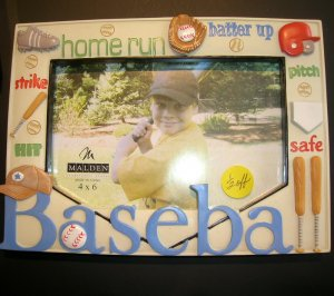 Picture Frame - Baseball Theme-Sale 50% off