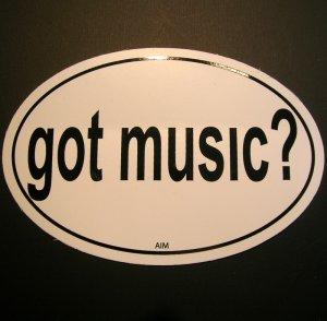 """Euro Sticker- """"Got Music"""""""