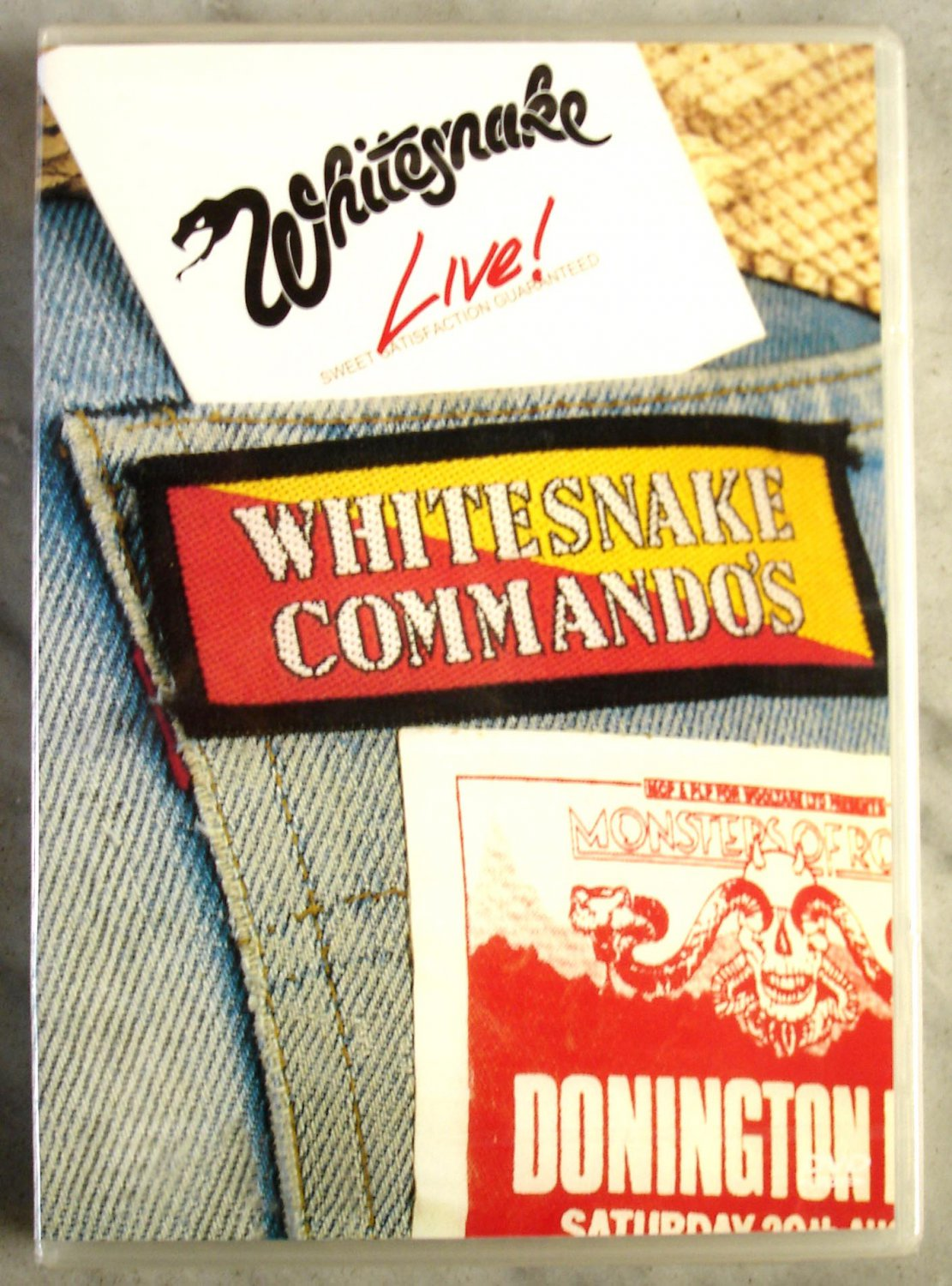 Whitesnake Live Sweet Satisfaction Guaranteed Commando's Donington DVD