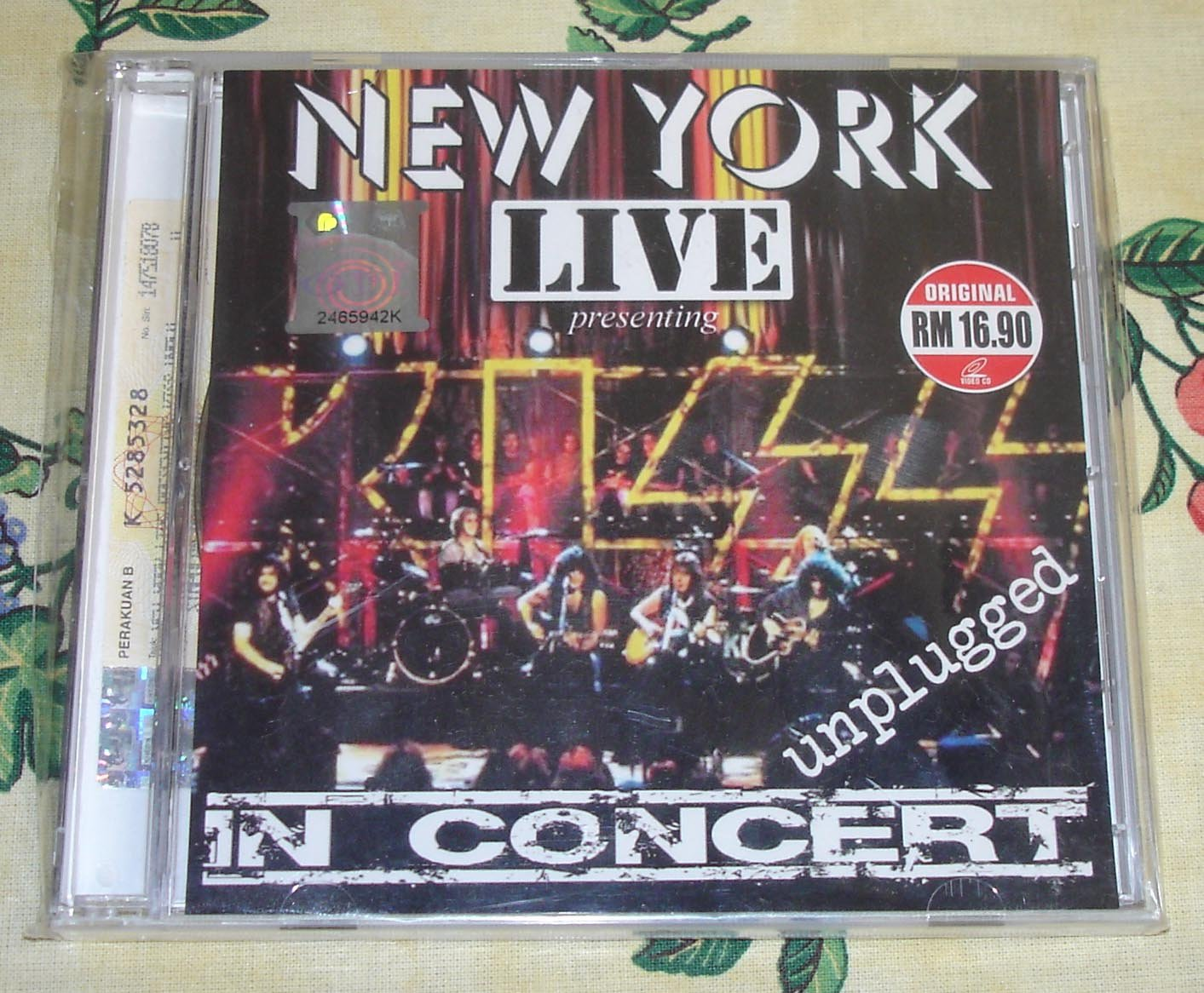 Kiss In Concert Unplugged Live New York Video-CD 2X