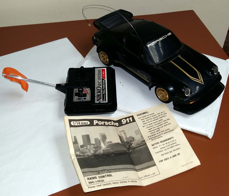 Porsche 911 Nikko RC Radio Remote Control Scale 1/14 Made In Japan 1985