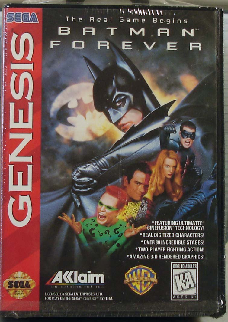 Batman Forever Sega Genesis 1995