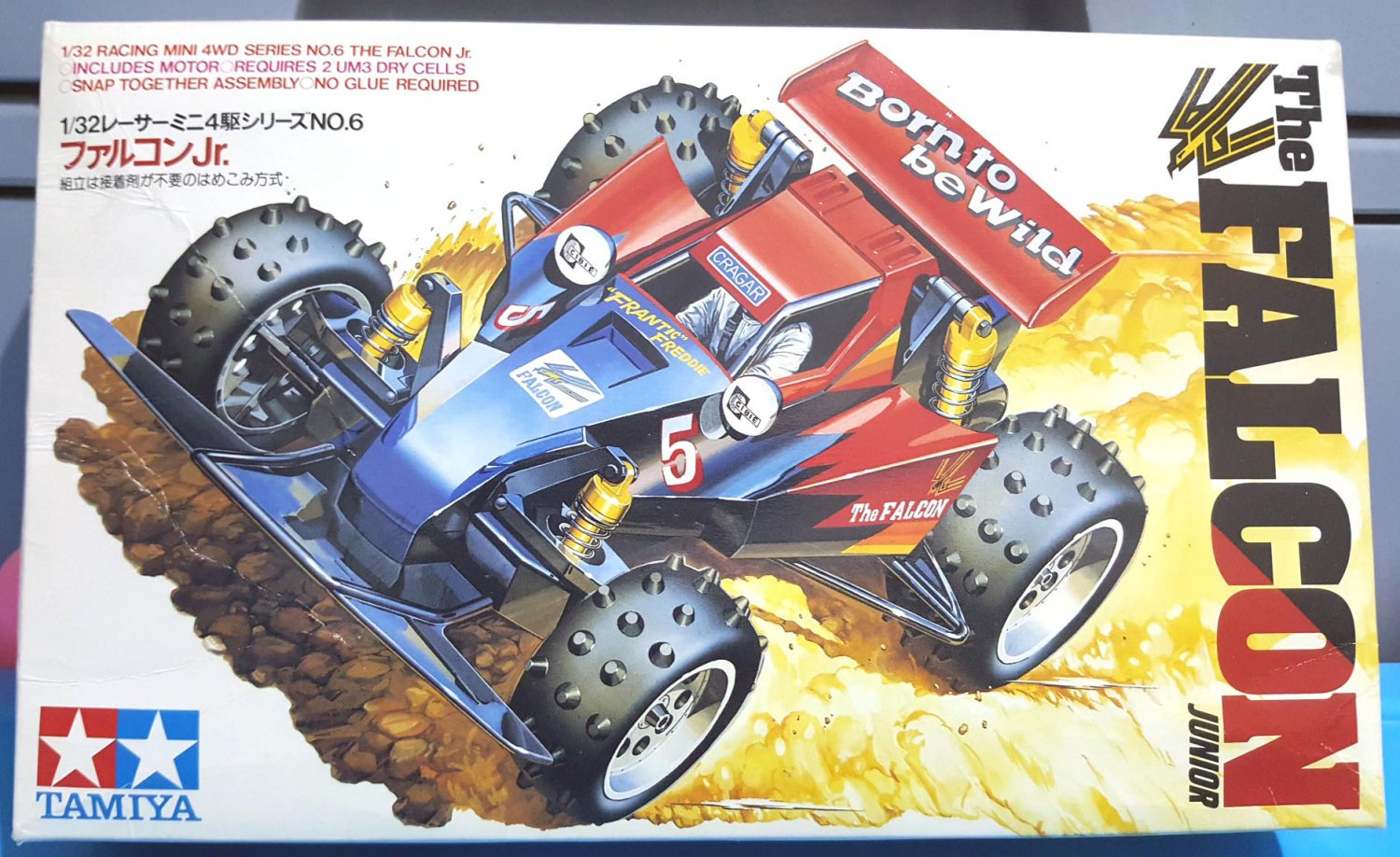 The Falcon Junior Tamiya Mini Racing 4 W/D Scale 1:32 1987 Made In Japan