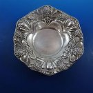 Antique Floral Candy Dish with Thistle Design in Sterling Silver (#1257)