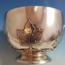 Outstanding Heavy Scottish Sterling Silver Bowl w/ Maple Leaves Made in 1905