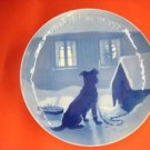 "1915  CHRISTMAS PLATE BING & GRONDAHL ""Chained Dog"""